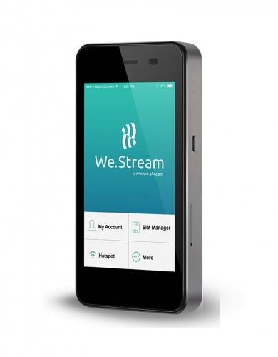 We.Stream Secure mobile hotspot with embedded cloud sim
