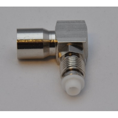 MFC-RF037 Adapter FME Male to FME Female Right Angle frontview-3